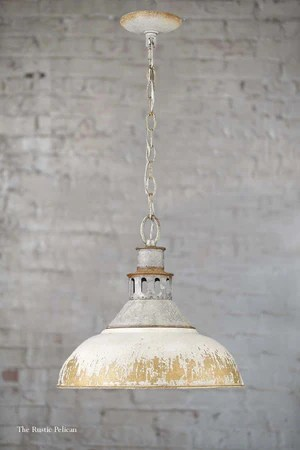 free shipping modern farmhouse chandelier rustic aged galvanize steel