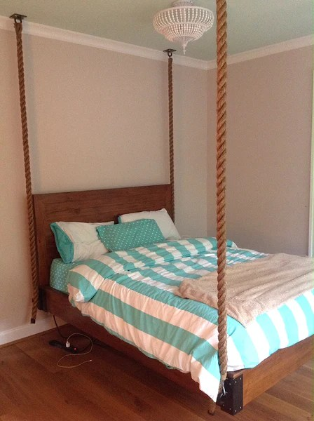 Hanging Rope Bed For Girls Bedroom Mortise Amp Tenon