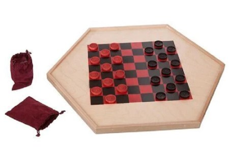2 CLASSIC CHECKER GAMES   Chinese Checkers   Traditional Wood Board         2 CLASSIC CHECKER GAMES   Chinese Checkers   Traditional Wood Board  with Glass Marbles