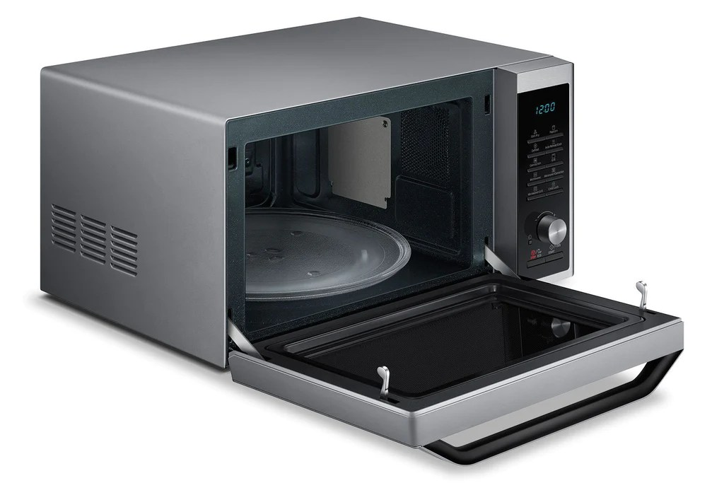 samsung 1 1 cu ft countertop microwave oven with grill and convection stainless steel mc11j7033ct ac