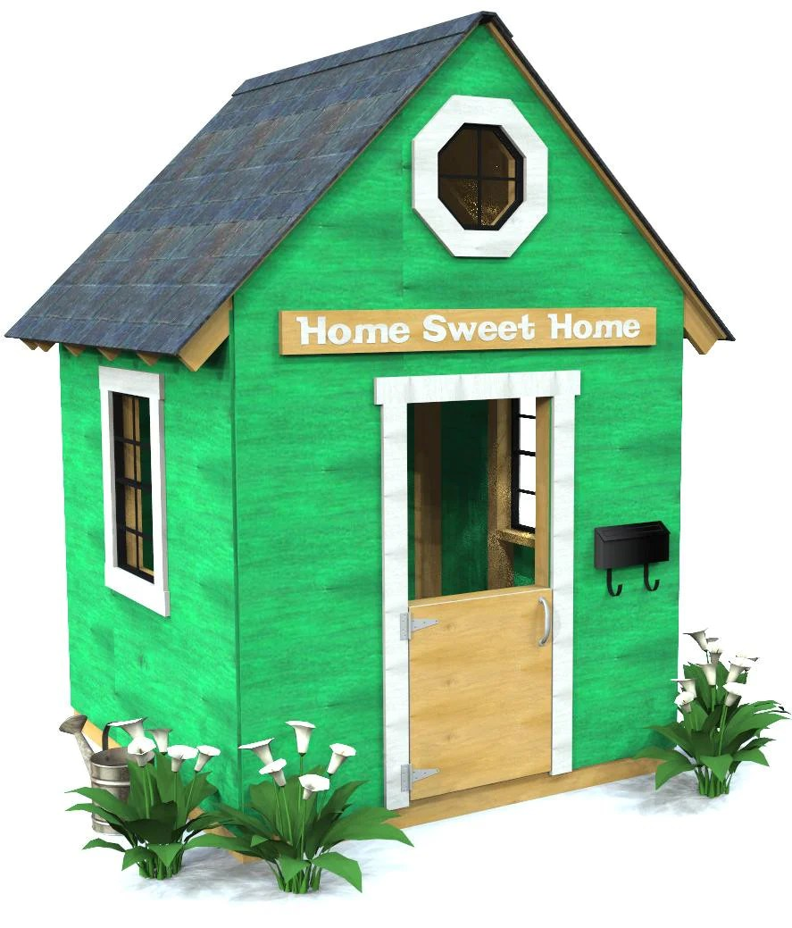 How To Build An Outdoor Loft Playhouse Free Step By Step