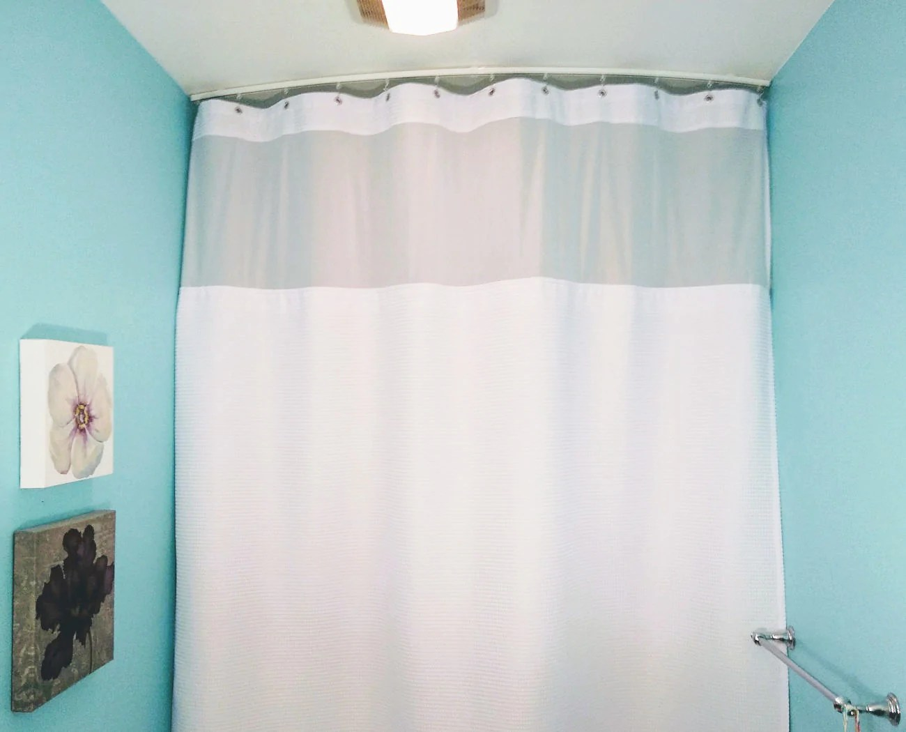 curved shower curtain track set 59