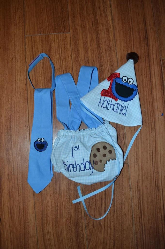 Sesame Street 1st Birthday Smash Cake Outfit Cookie Monster Boogerbear Punkinpooh Designs