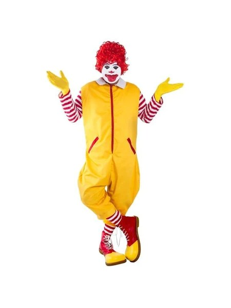 Adult Ronald The Clown Costume Costumeish Cheap Adult
