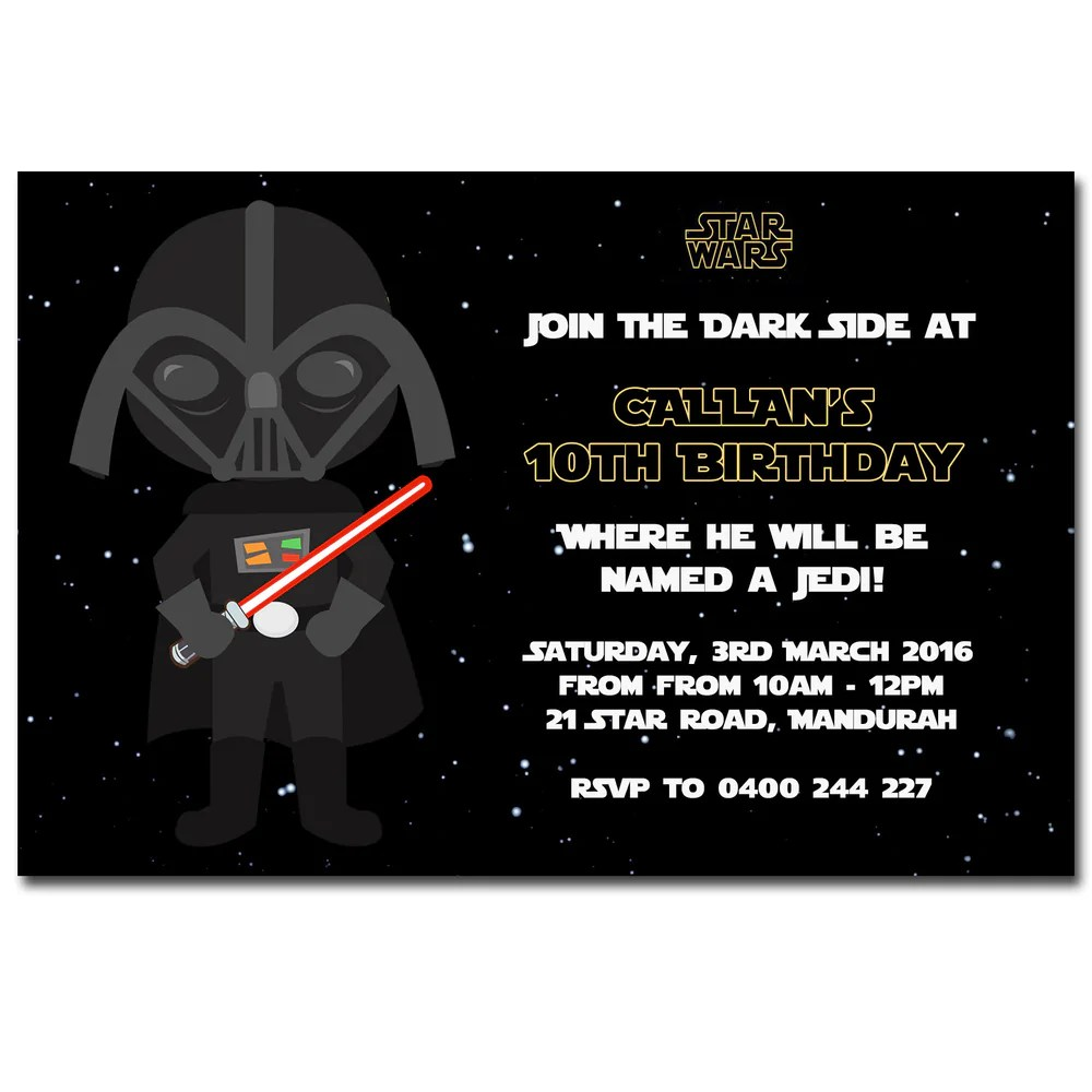 callan star wars birthday invitation