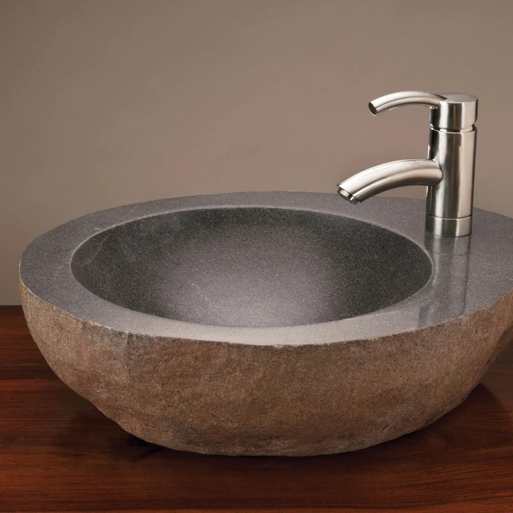 Natural Vessel With Faucet Mount Stone Forest