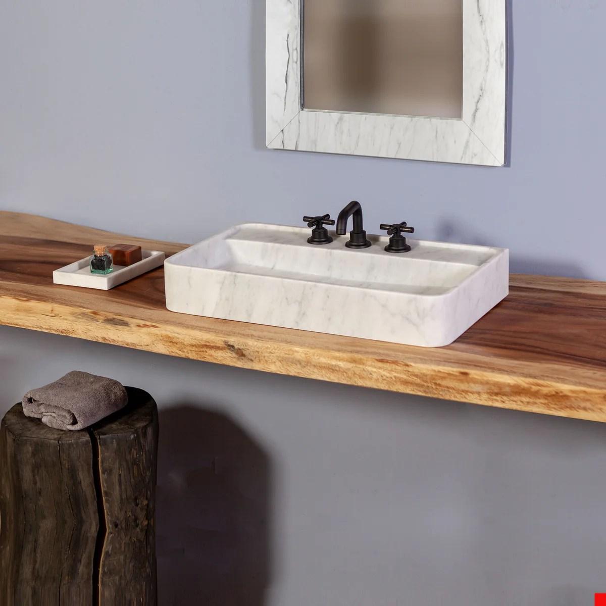 lumbre vessel sink natural stone