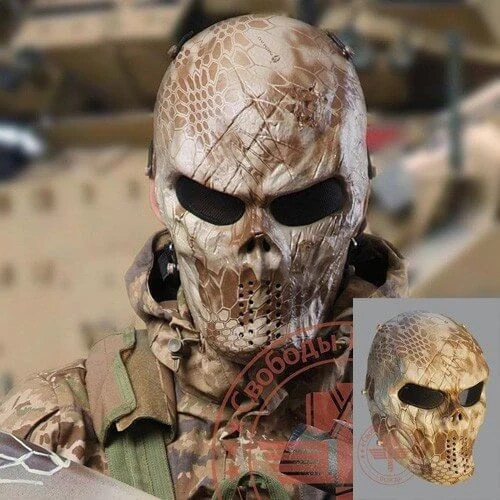 Camo Ghost Airsoft Mask For Airsoft Helloween 4999