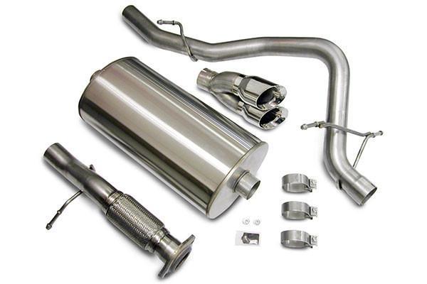 corsa dual tip cat back exhaust system 2007 2008 chevy silverado gmc sierra 14259