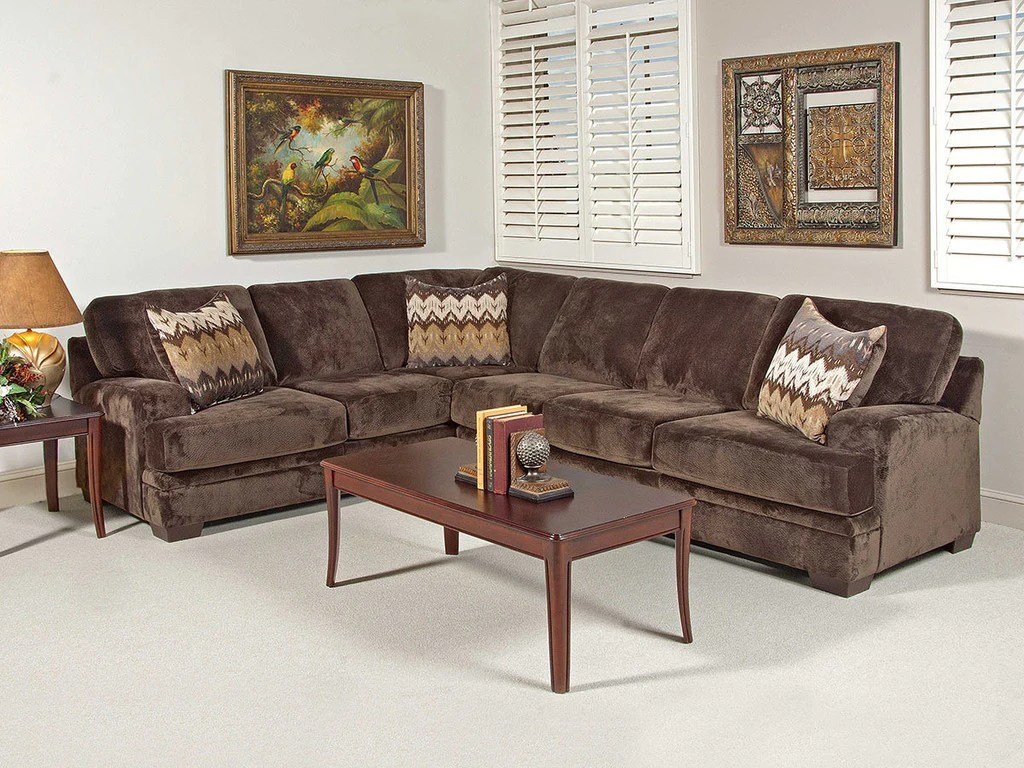 olympian chocolate brown sectional