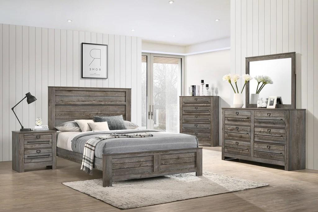 dark gray panel twin bedroom set