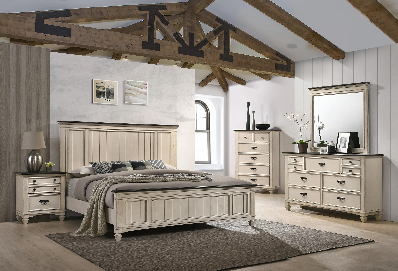 modern farmhouse sawyer queen size bedroom set