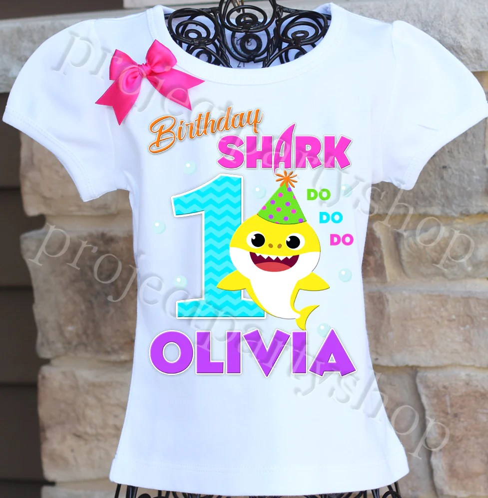 Baby Shark Birthday Shirt Twistin Twirlin Tutus