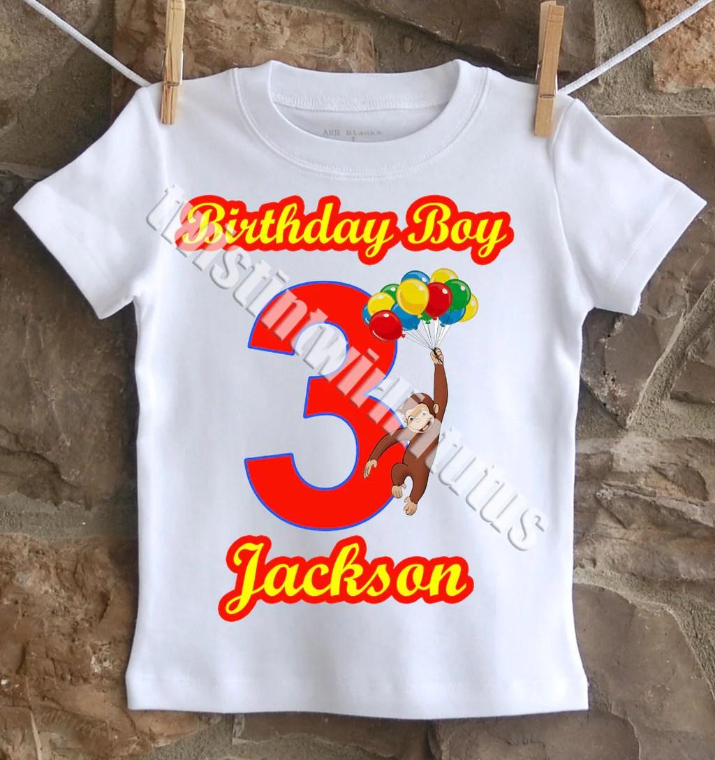 Curious George Birthday Shirt Twistin Twirlin Tutus