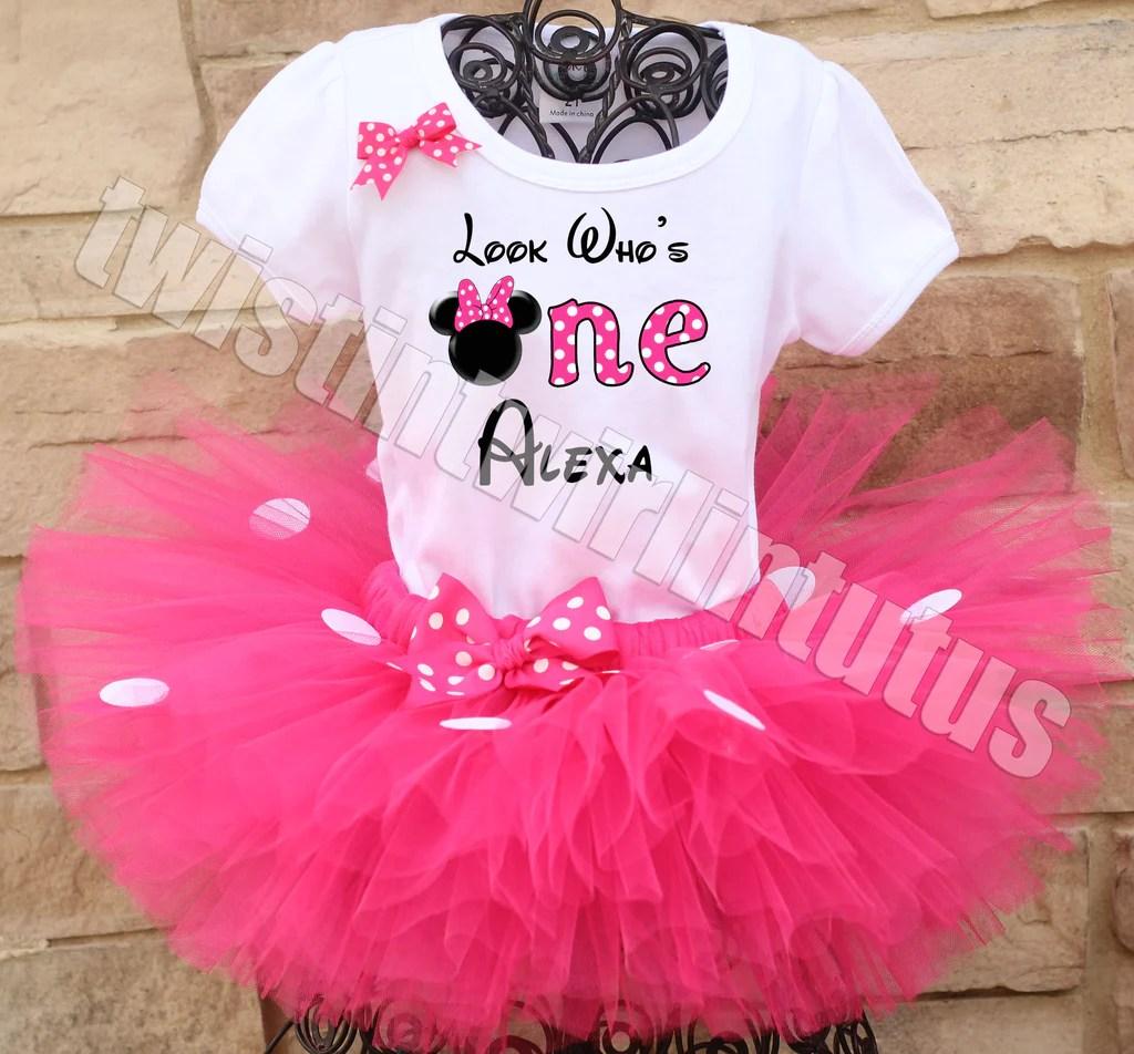 Minnie Mouse First Birthday Outfit Twistin Twirlin Tutus