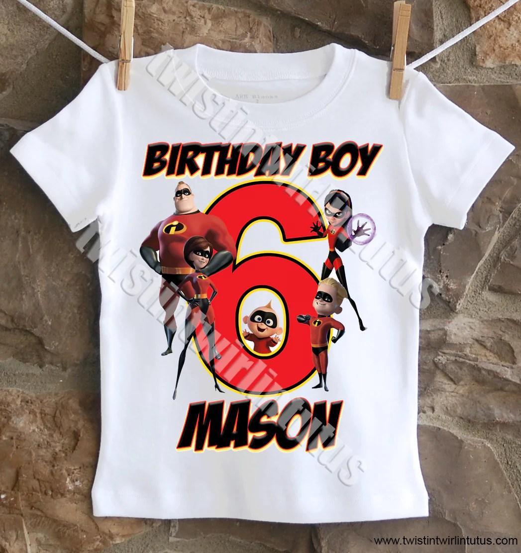 Incredibles Birthday Shirt Twistin Twirlin Tutus