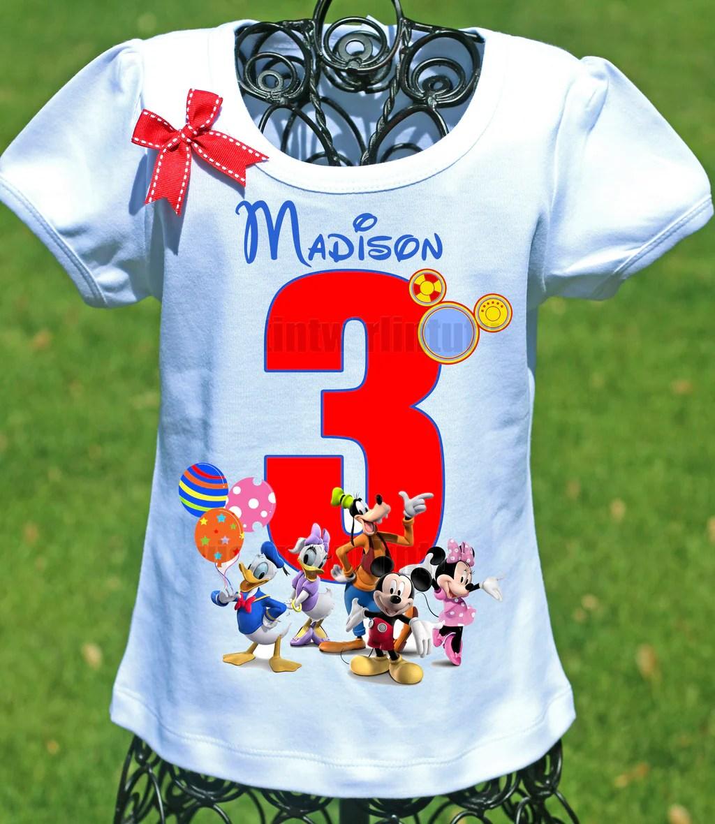 Mickey Mouse Clubhouse Birthday Shirt Twistin Twirlin Tutus