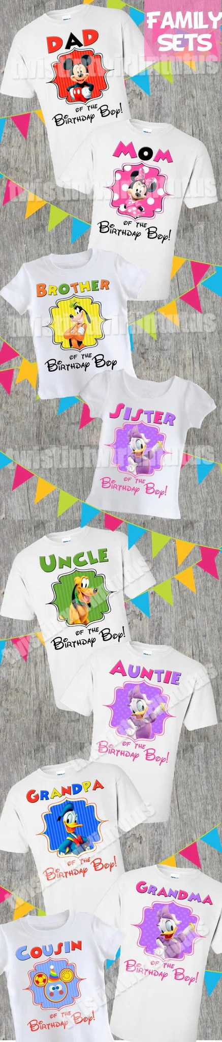Mickey Mouse Clubhouse Family Birthday Shirts Twistin Twirlin Tutus