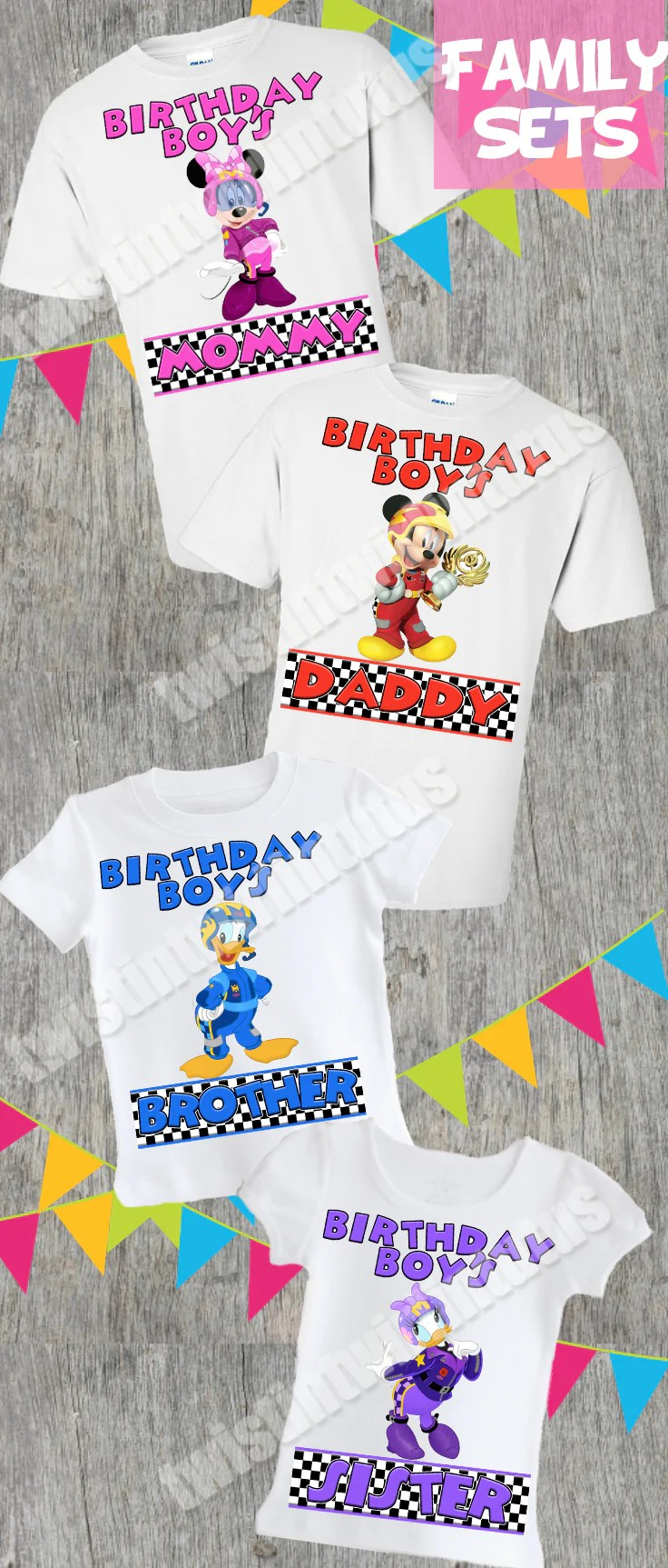 Mickey And The Roadster Racers Family Birthday Shirts Twistin Twirlin Tutus