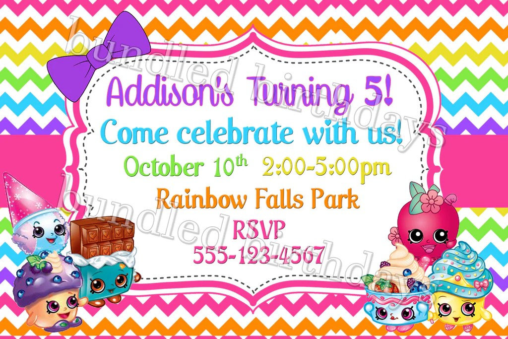 shopkins birthday invitation digital download