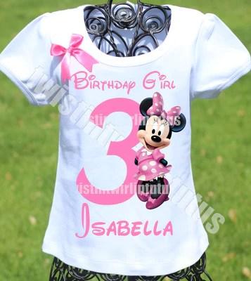 Girls Shirts Minnie Mouse First Birthday Shirt Twistin Twirlin Tutus
