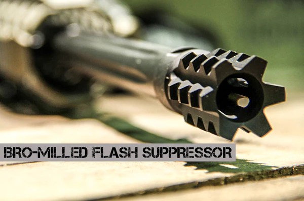 BRO Milled Flash Suppressor