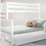 Bunk Beds Twin Over Full End Ladder White Trundle 646