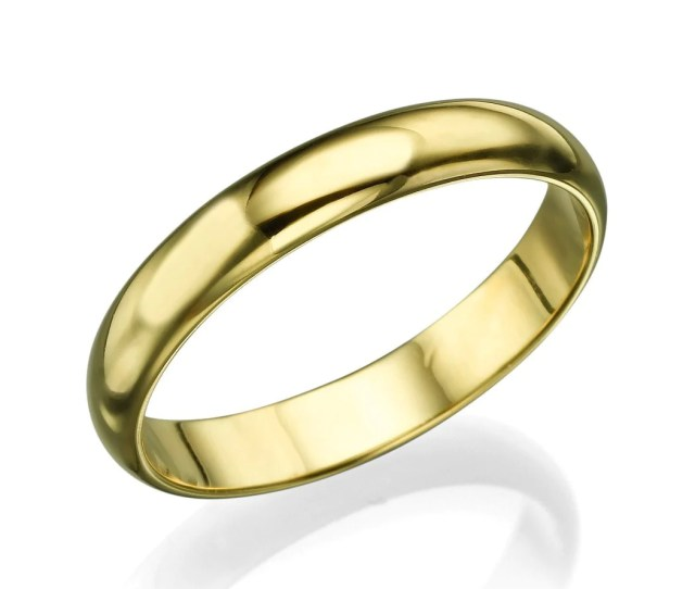 Wedding Rings Solid K K Mens Yellow Gold Wedding Bands  Mm Plain Rings