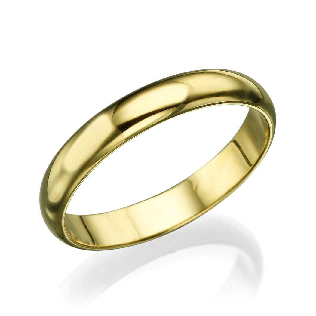 wedding rings solid 14k 18k men s yellow gold wedding bands 3 6mm plain rings