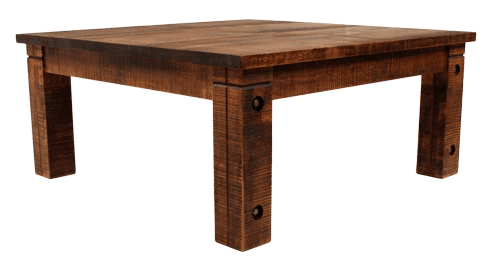 r023b rustic coffee table with bolted rustic legs