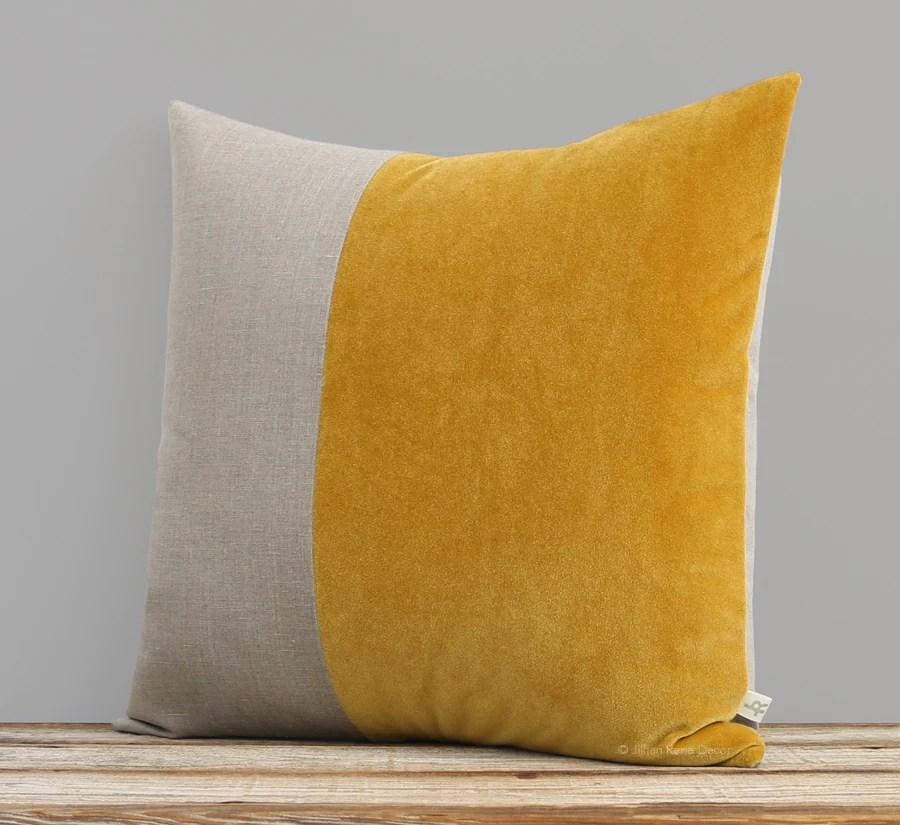mustard pillow online
