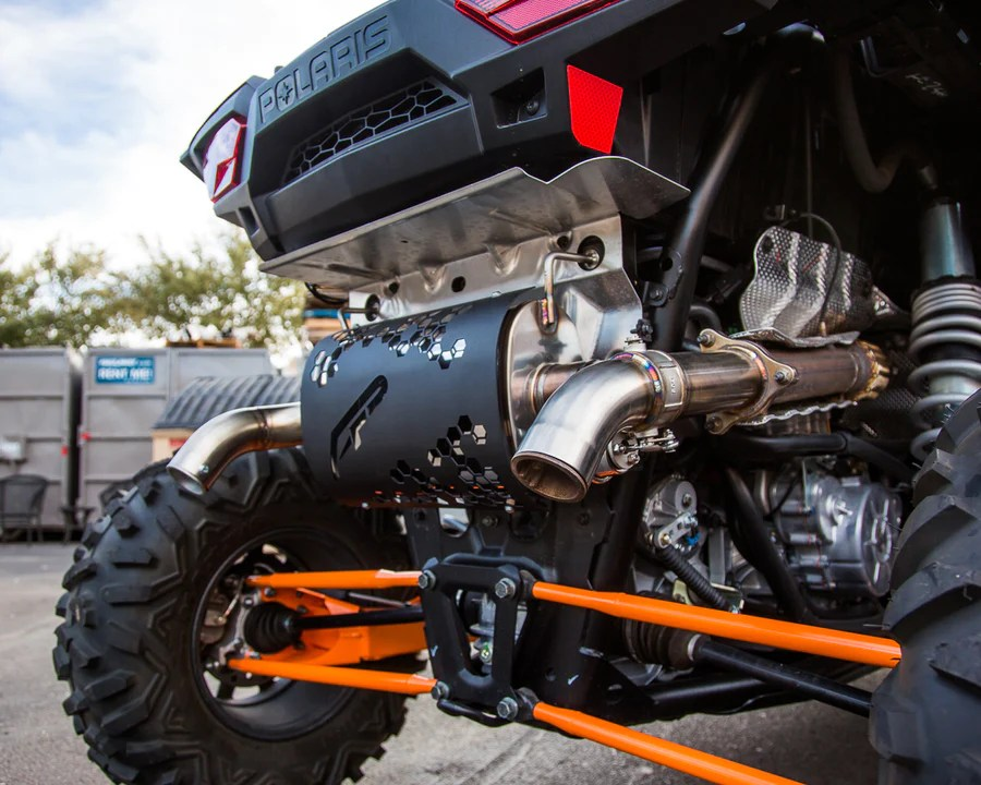 valvetronic exhaust system for polaris rzr turbo xpt and s muffler hct powersports hard core tuning