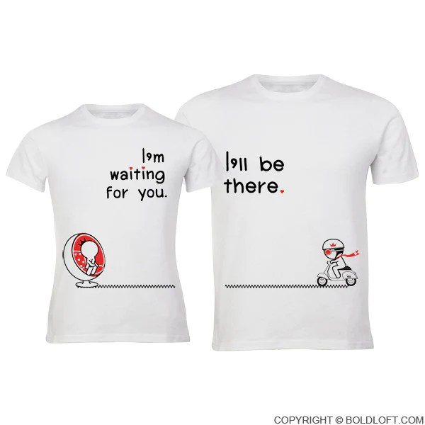 Love Is On The Way His Amp Hers Matching Couple Shirts