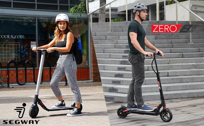 comparison segway es2 zero 8 electric scooter