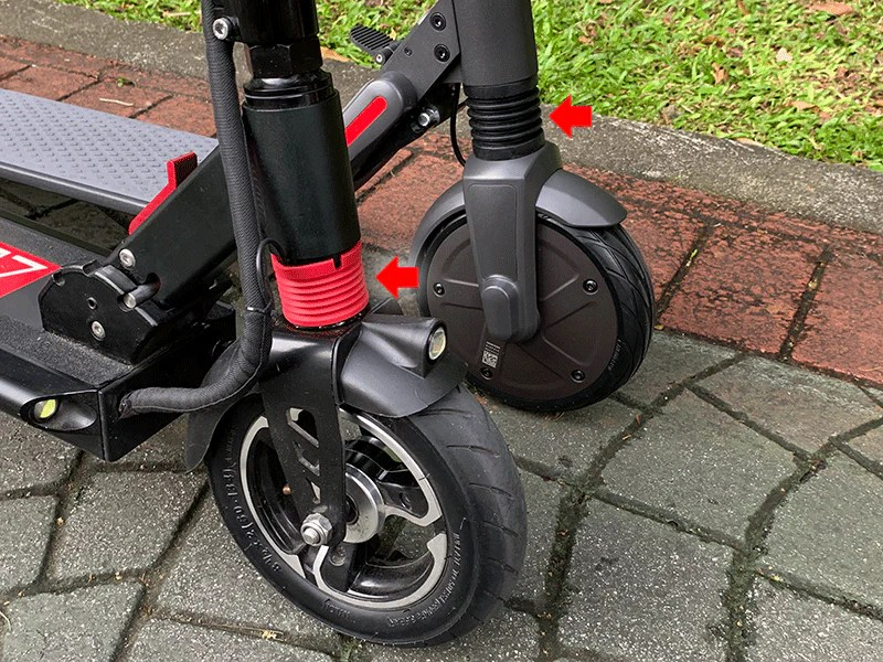electric scooter comparison segway es2 zero 8 suspension