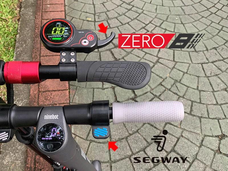 comparaison scooter électrique segway es2 zéro 8