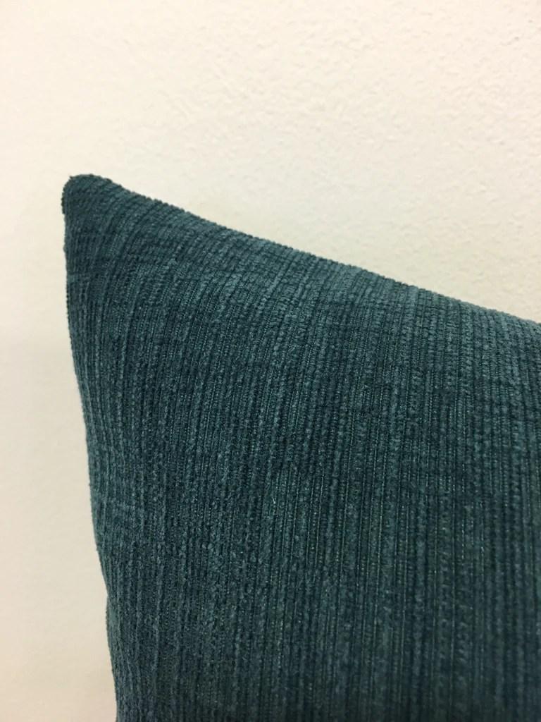 heavenly denim blue lumbar throw pillow 12x22