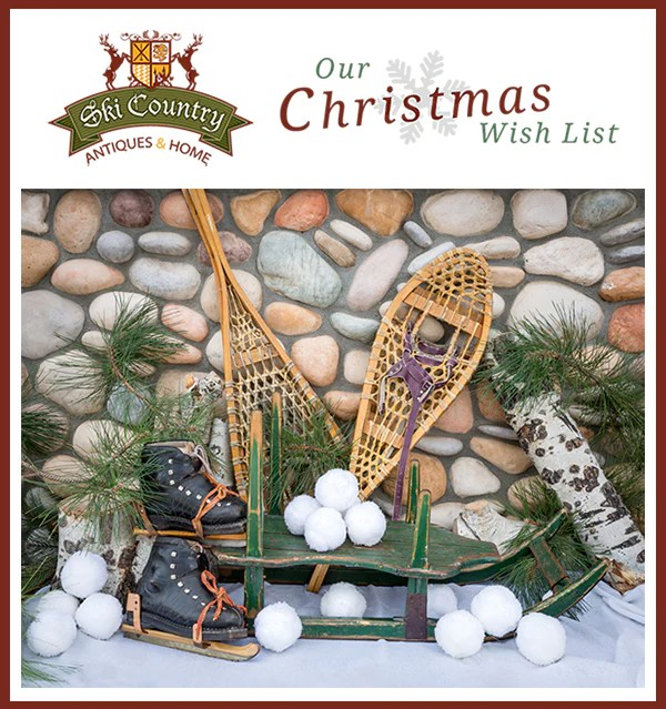 Decorating With Sleds Skates And Snowshoes Ski Country Antiques Home