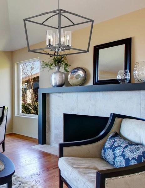 golden lighting mercer 5 light chandelier in black with seeded glass dazzling spaces
