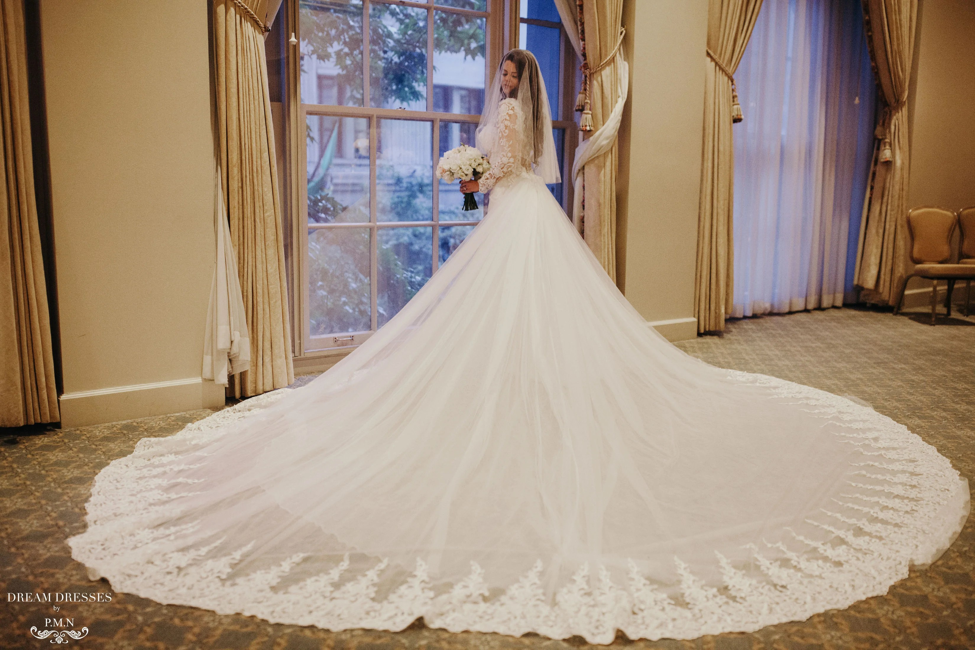 Detachable Cathedral Wedding Train