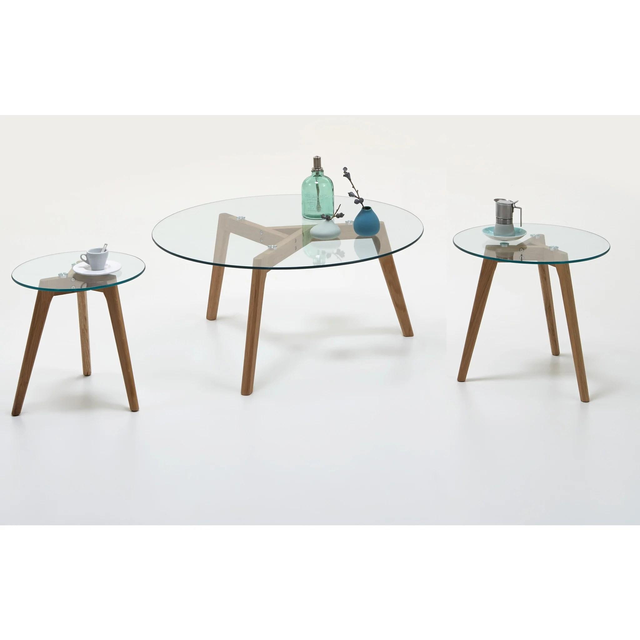 california scandinavian style coffee end table glass wood tripod