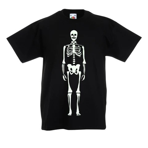 Glow in the dark Skeleton t-shirt