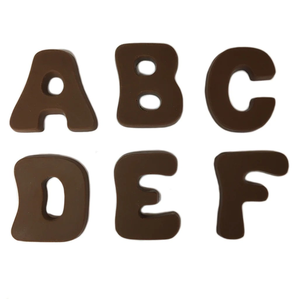 Medium Bubble Letter A B C D E F Krause S Chocolates