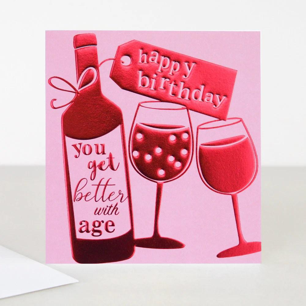 Happy Birthday Wine Bottle Card Paper Tiger