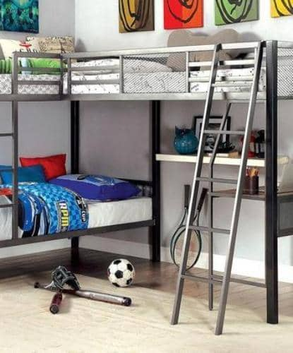Affordable Loft Beds With Desk For Kids Custom Kids Furniture