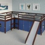 Luke L Shape Corner Loft Bed Custom Kids Furniture