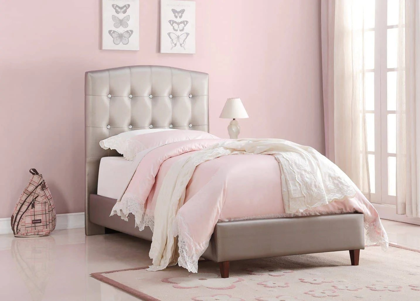Nevaeh Princess Upholstered Bed