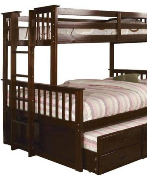 penelope twin xl over queen captains bunk bed