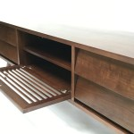 Oslo Solid Walnut Mid Century Modern Tv Cabinet Gingko Gingko Home Furnishings