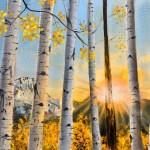 Aspen Trees Artwork Garaffagalli